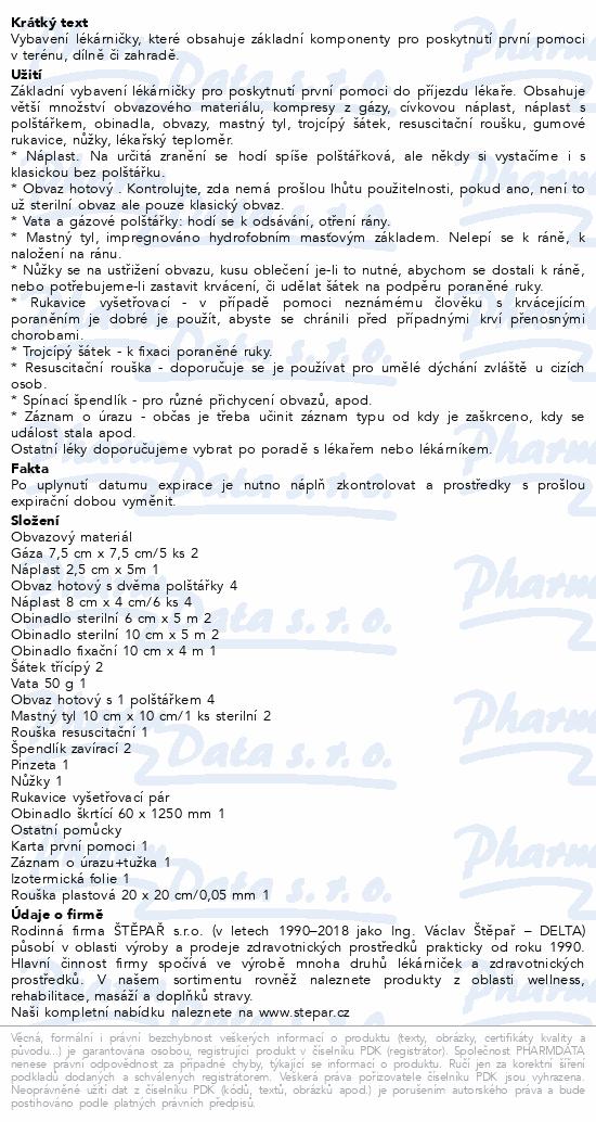 Informace o produktu Lékárnička - brašna malá - se zdrav.mat.10osob