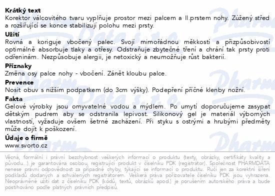 Informace o produktu svorto 101 Gelový korektor meziprstní 2 (M)