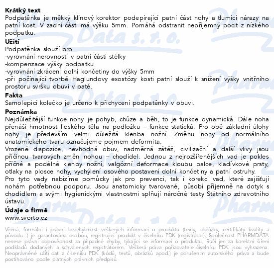 Informace o produktu svorto 022 Podpatěnky latex 37-39