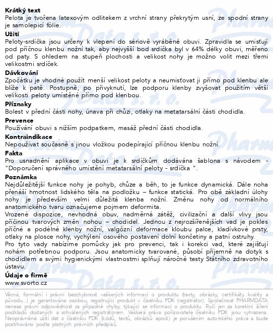 Informace o produktu svorto 024 Srdíčka samolepicí L+P béžová vel.3