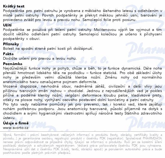 Informace o produktu svorto 046 Podpatěnky pro patní ostruhu 37-39