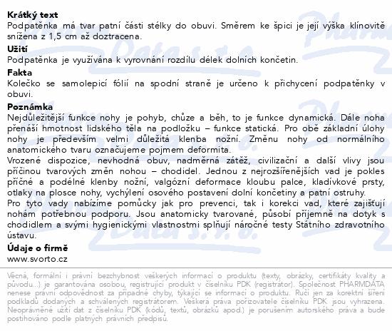 Informace o produktu svorto 017/C Podpatěnka korekční 1.5cm 40-42
