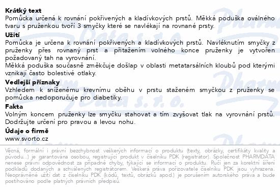Informace o produktu svorto 051 Korektor kladívkových prstů 36-40 (1)P