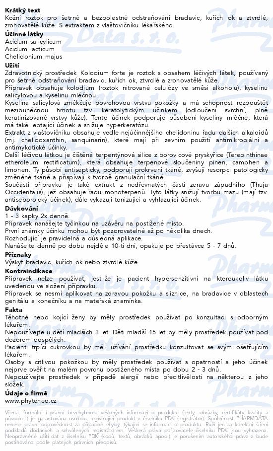Informace o produktu Phyteneo Kolodium forte 10 ml