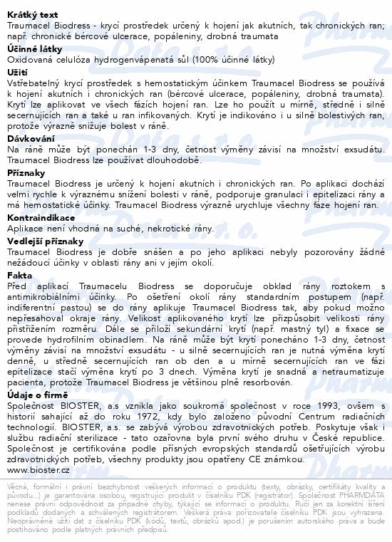 Informace o produktu Traumacel Biodress 7.5x5cm 10ks
