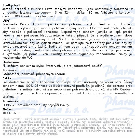 Informace o produktu Prezervativ - kondom Pepino Extra Thin 3ks