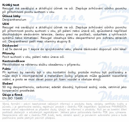Informace o produktu Recugel oční gel 10g