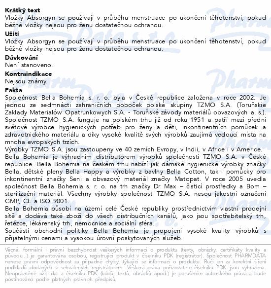 Informace o produktu Absorgyn porodnické vložky 20ks