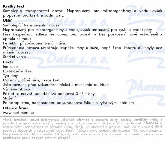 Informace o produktu Náplast fixační HYDROFILM 10x15cm 10ks