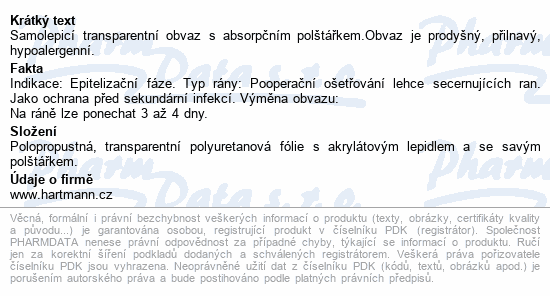 Informace o produktu Náplast fixační HYDROFILM PLUS 5x7.2cm 5ks