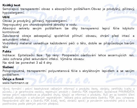 Informace o produktu Náplast fixační HYDROFILM PLUS 9x10cm/5ks