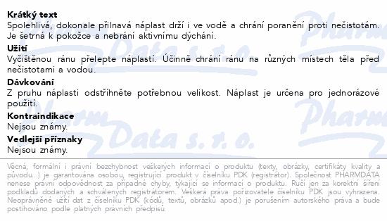 Informace o produktu Hansaplast náplast voděodolná 1mx6cm č.45901