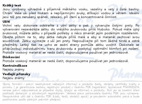 Informace o produktu Chránič sluchu Ohropax Classic 12ks