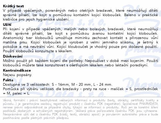 Informace o produktu MEDELA Kontaktní kojicí kloboučky vel.S 1pár