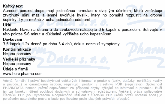 Informace o produktu Fytofontana Aurecon peroxid drops 10 ml