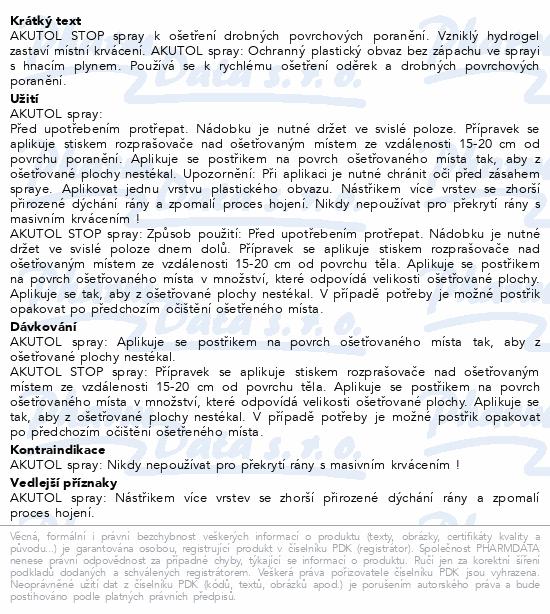 Informace o produktu AKUTOL spray + Akutol STOP spray DUOPACK 2x60 ml