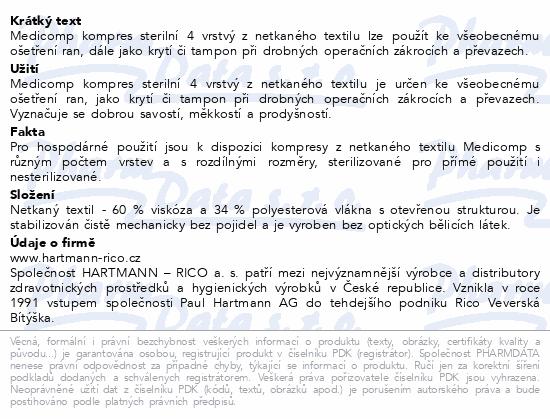 Informace o produktu Kompres Medicomp ster.10x20cm 25x2ks