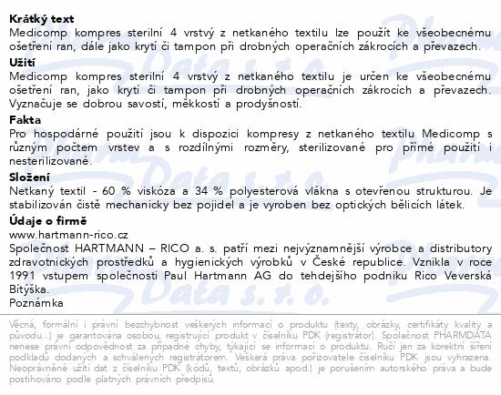 Informace o produktu Kompres Medicomp ster.5x5 cm 25x2ks