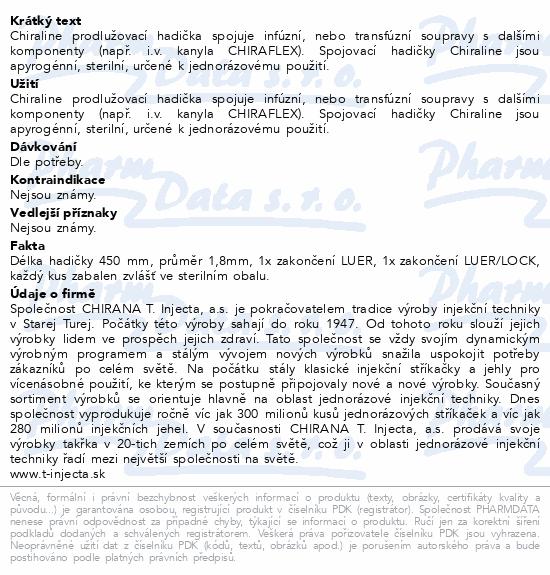 Informace o produktu CHIRALINE 1.8x450mm hadička spojovací