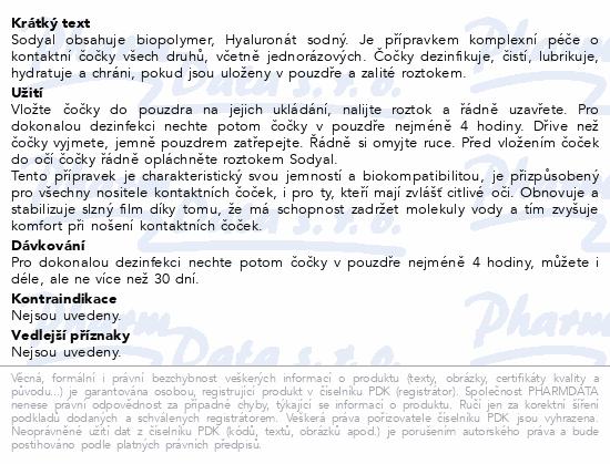 Informace o produktu Sodyal Roztok na kontaktní čočky 50 ml