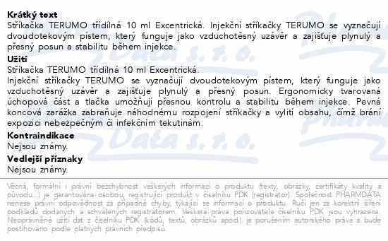 Informace o produktu Inj.stř.TERUMO třídílná 10ml Luer Lock 100ks