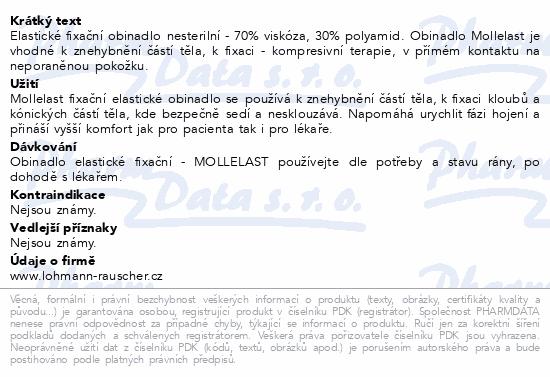 Informace o produktu Obin.elast.fix.Mollelast 10cmx4m v celofánu 1ks