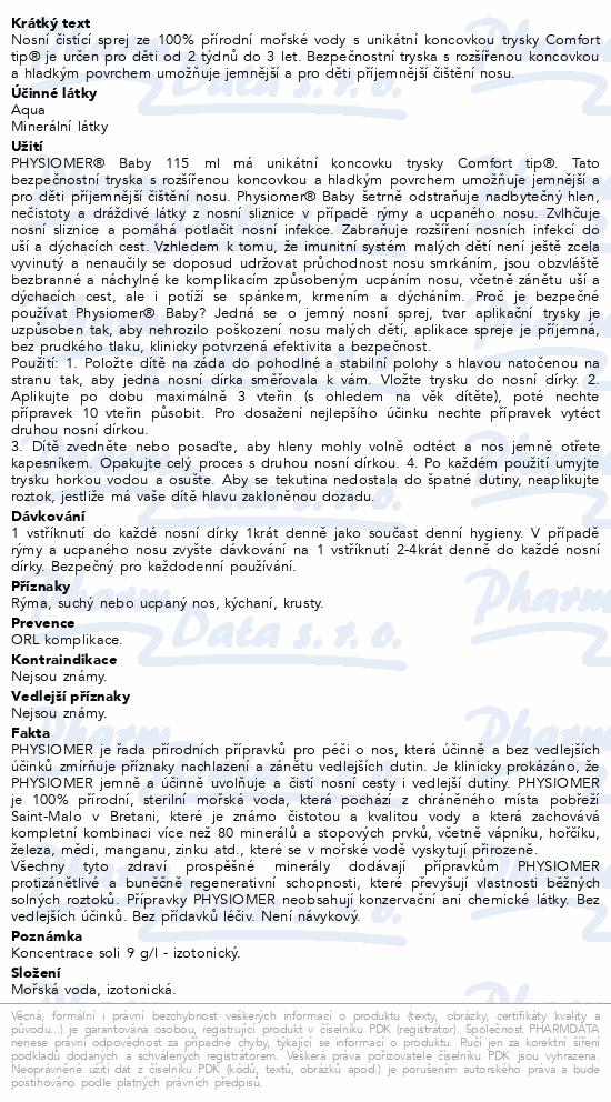 Informace o produktu Physiomer Baby 115ml
