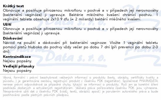 Informace o produktu GYNOLACT 8 vaginálních tablet