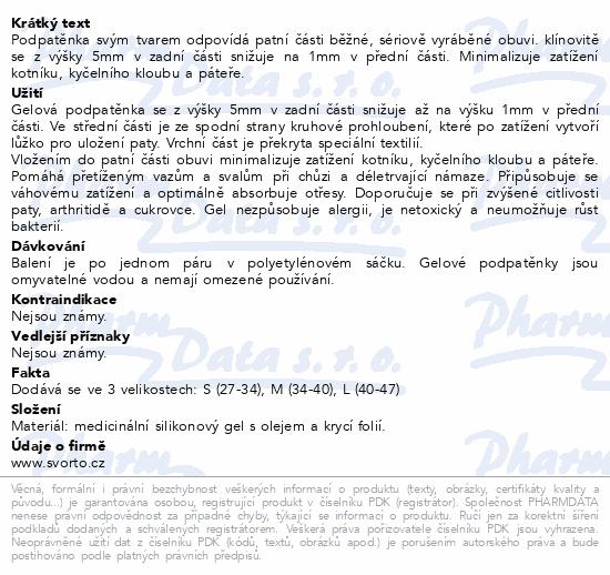 Informace o produktu svorto 107 Gelové podpatěnky antišokové 38-42 (M)