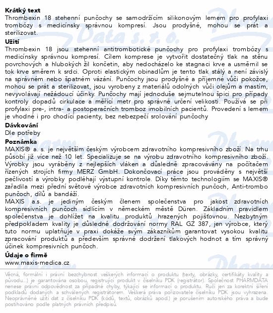 Informace o produktu mediven Thrombexin 18 stehenní punč. vel. MX bílá