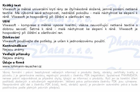 Informace o produktu Komprese Vliwasoft nest.10x20cm/4v. 100ks