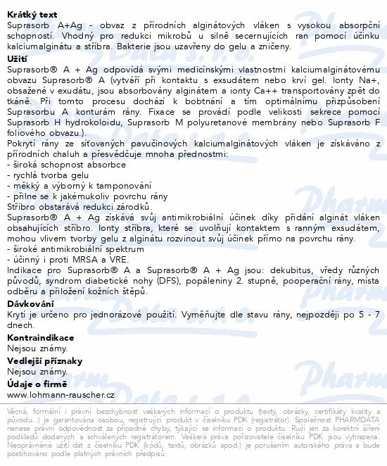 Informace o produktu Krytí Suprasorb A+Ag 10x10cm sterilní 10ks