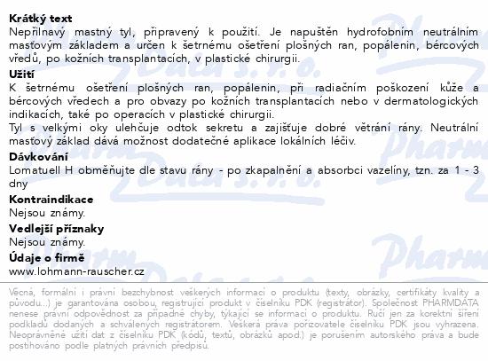 Informace o produktu Tyl mastný Lomatuell H 5x5cm sterilní 10ks
