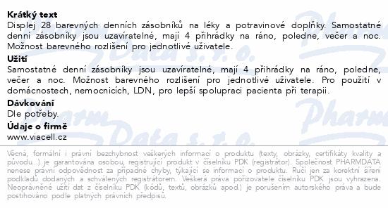 Informace o produktu Dávkovač na léky barevný denní - 1 ks