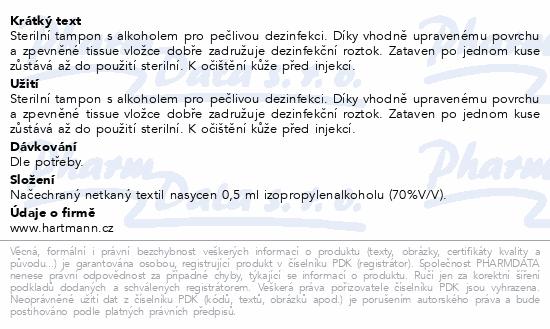 Informace o produktu Tampon Soft-Zellin impreg.s alkoholem/100ks