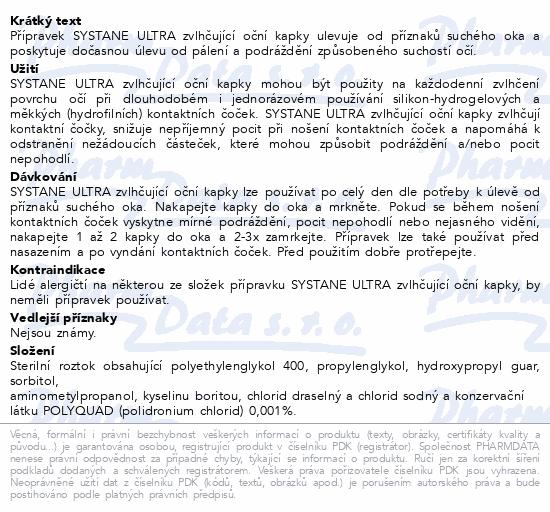 Informace o produktu Systane Ultra Zvlhčující oční kapky 10ml