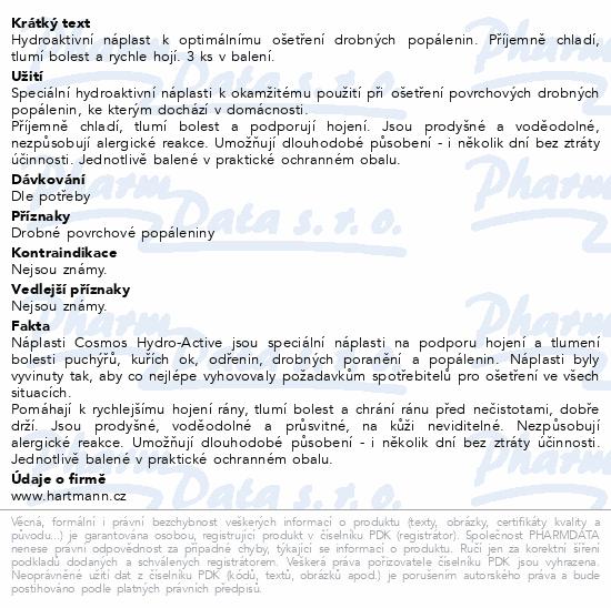 Informace o produktu Rychloobvaz COSMOS Na popáleniny 4.5x6.5cm 3ks