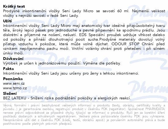 Informace o produktu Seni Lady Micro 20 ks inkont. vložky