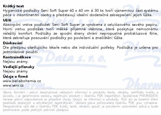 Informace o produktu Seni Soft Super 60x60cm 30 ks podložky absorpční