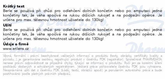 Informace o produktu Berle podpažní duralová DPB 10 vel.B 2ks