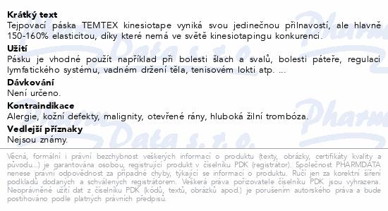 Informace o produktu Tejp. TEMTEX kinesio tape zelená 5cmx5m