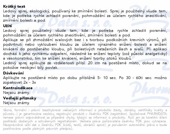 Informace o produktu CRYOS SPRAY - syntetický led ve spreji 200 ml