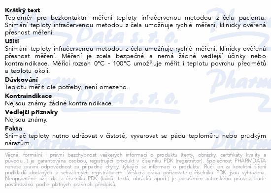 Informace o produktu Microlife Teploměr NC 100 dig.infra bezkontaktní