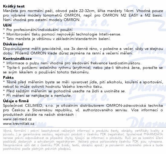 Informace o produktu Manžeta CM2 standard.obv.paže 22-32cm pro OMRON