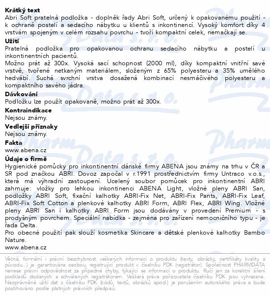 Informace o produktu Inkont.podl. Abri Soft pratelná 75x85cm 1ks