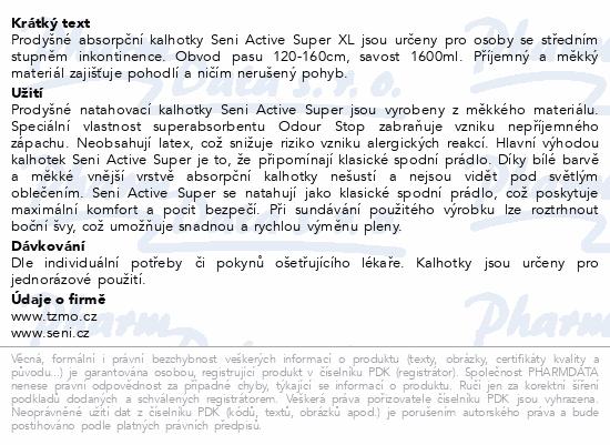 Informace o produktu Seni Active Super Extra Large 10ks ink.plen.kalh.