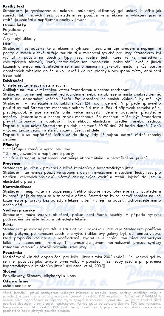 Informace o produktu Strataderm gel 20 g (Jizva 8-12 cm)
