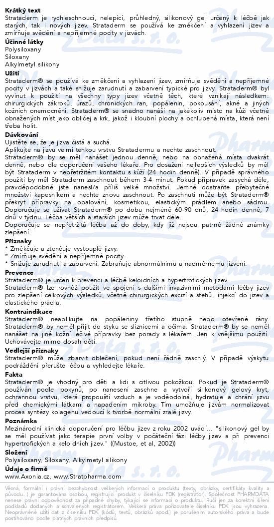 Informace o produktu Strataderm gel 50 g (Jizva 6x12 cm)