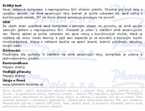 Informace o produktu Komprese Vliwazell ster.vys.absorp.10x10cm 60ks