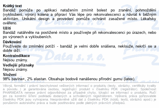 Informace o produktu SUPERBAND - bandáž kolene L